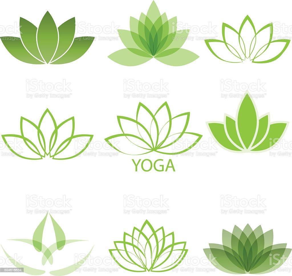 lotus vector art illustration