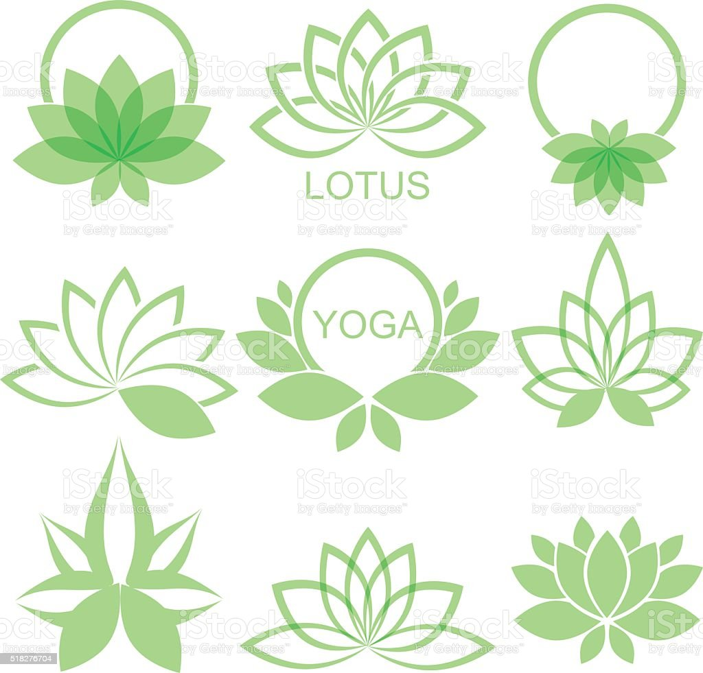 lotus vector art illustration