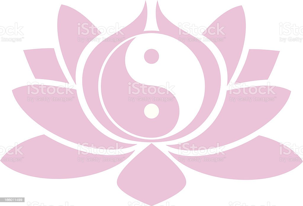 Lotus Yin yang royalty-free stock vector art