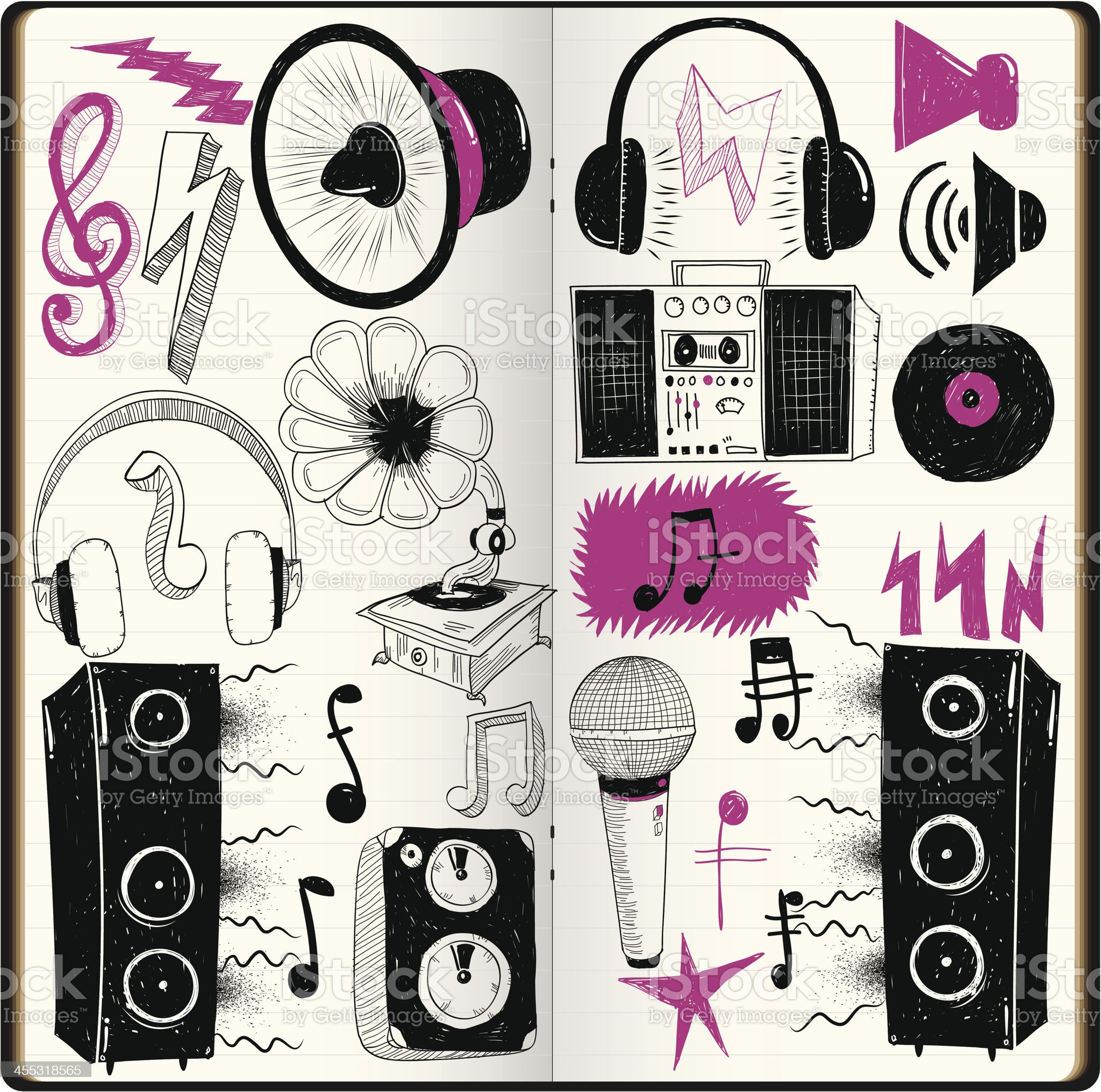 Loud Doodles royalty-free stock vector art