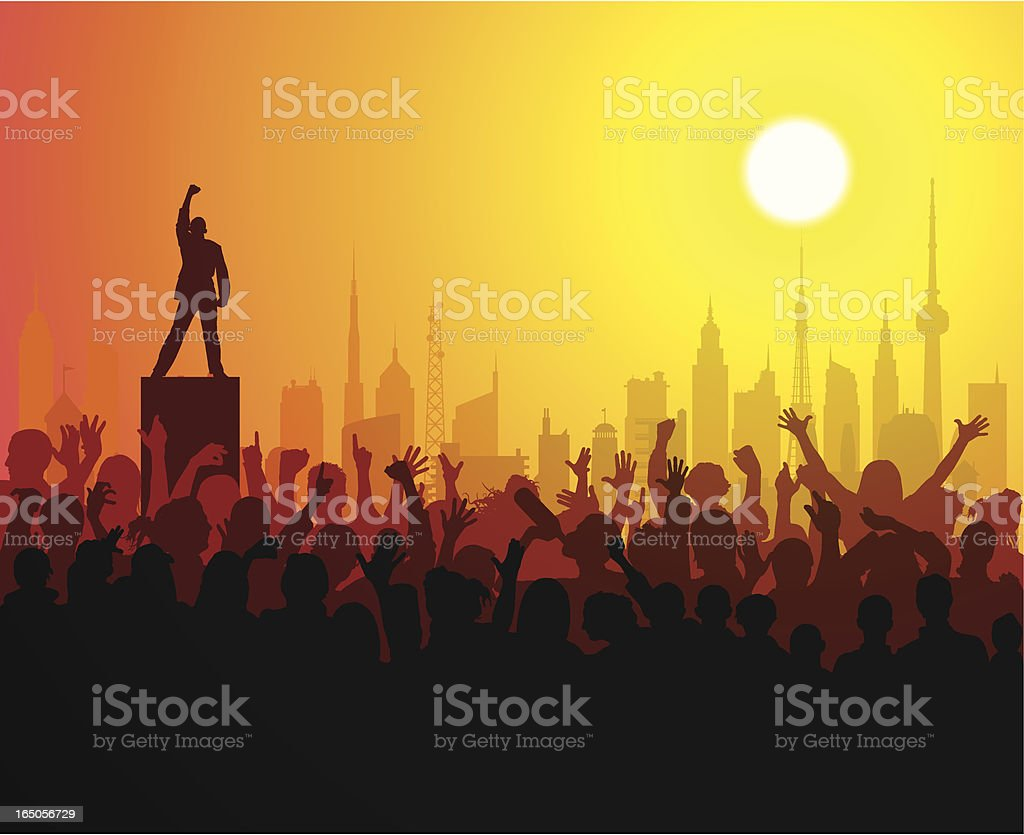 Loud People vector art illustration