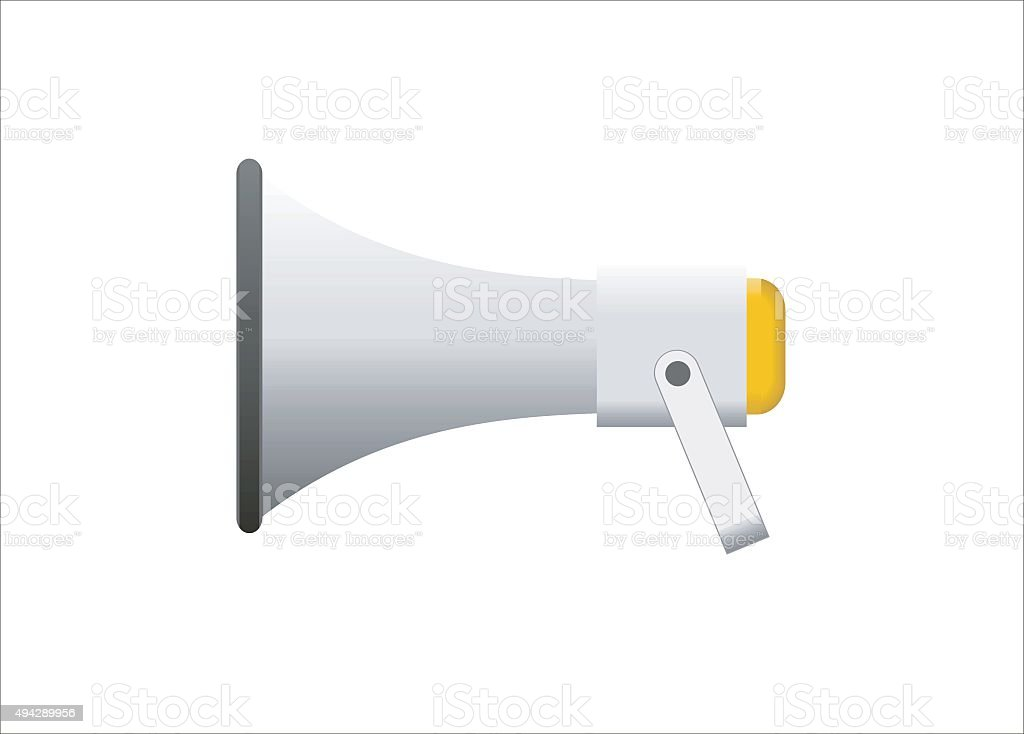loud speaker simple illustration vector art illustration