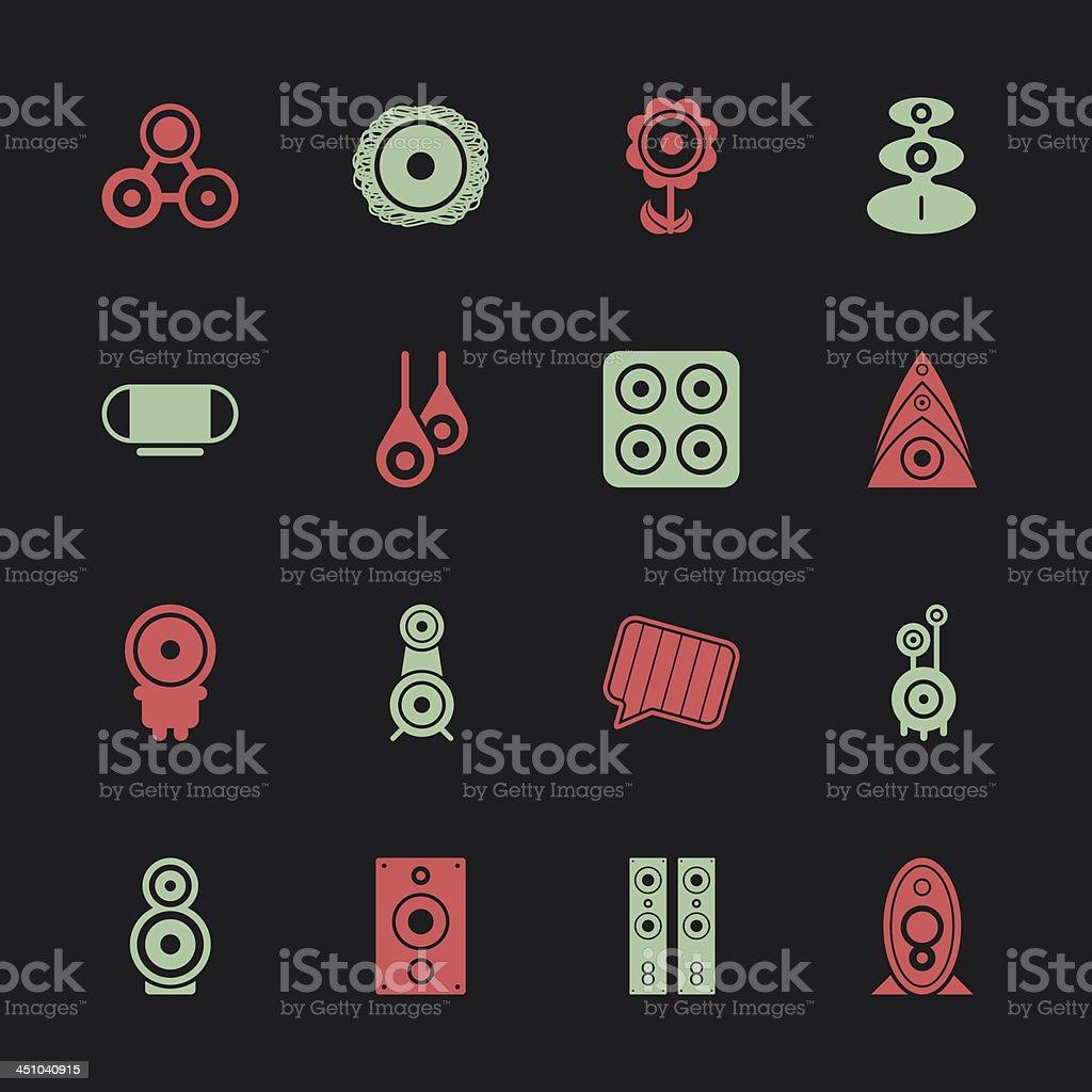 Loudspeaker Design Icons - Color Series | EPS10 vector art illustration