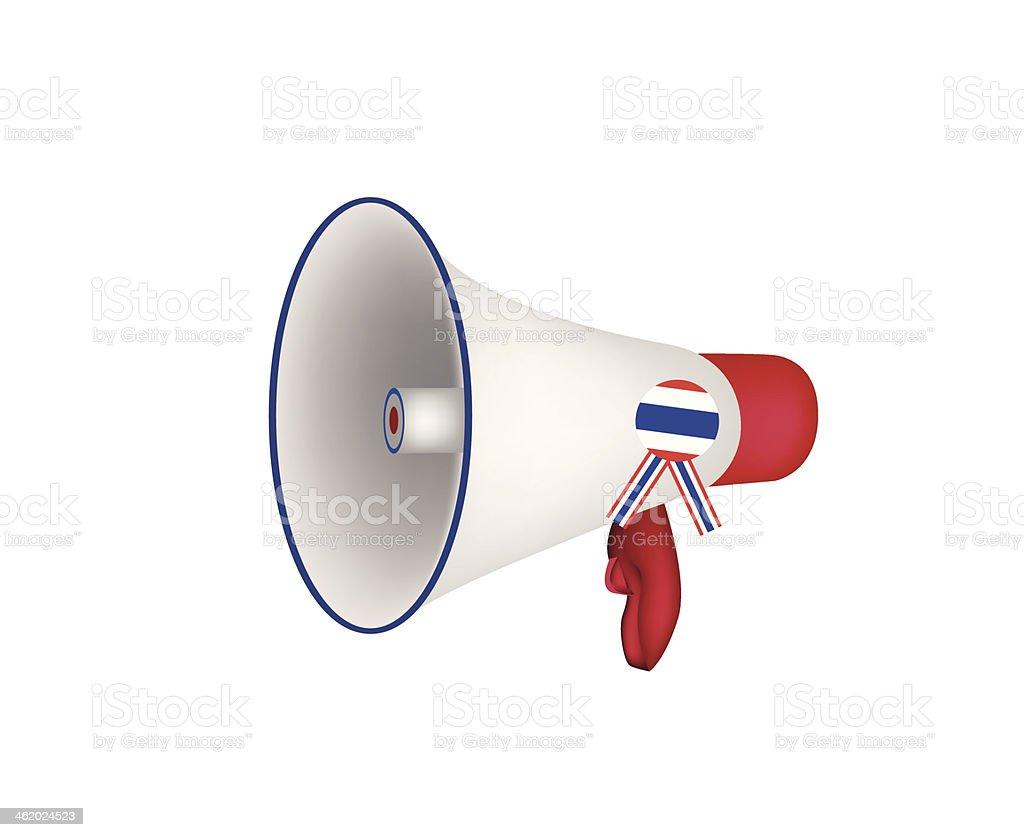 Loudspeaker or Megaphone on White Background vector art illustration