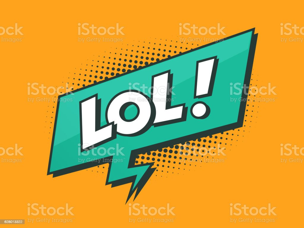 Loughing Out Loud - LOL vector art illustration