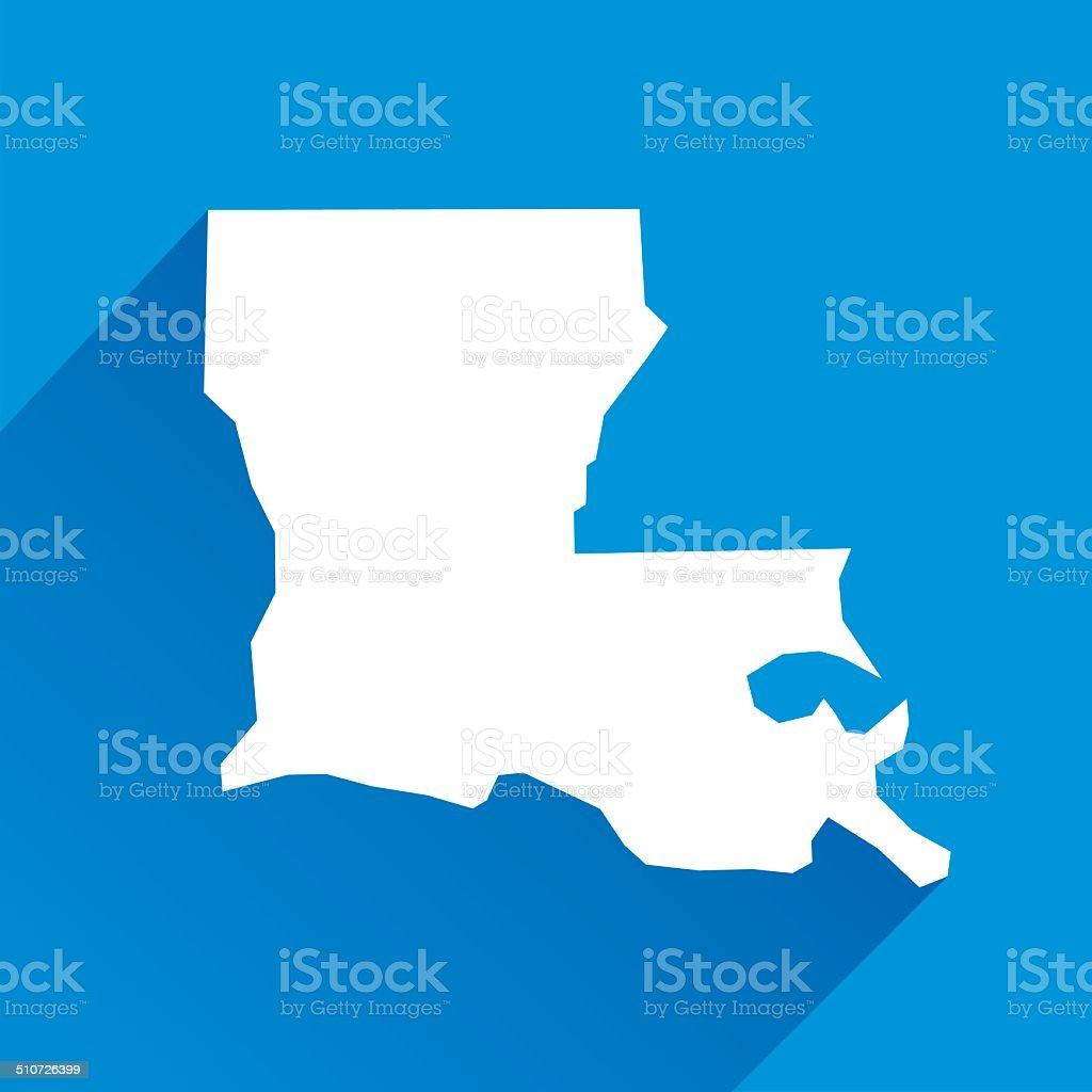 Louisiana Icon vector art illustration
