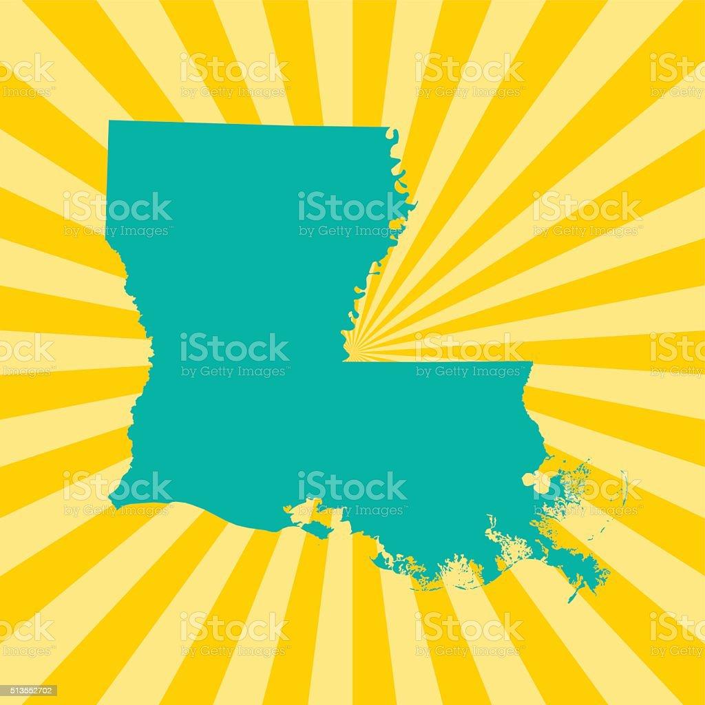 Louisiana Map vector art illustration