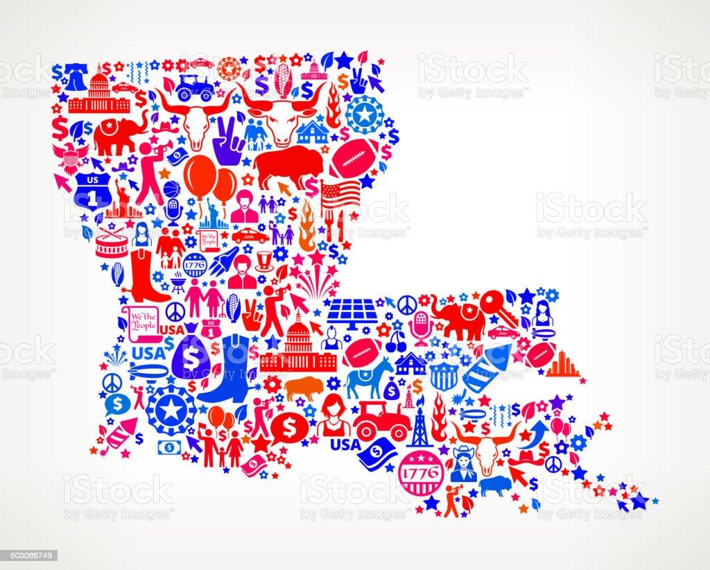 Louisiana US royalty free vector art Pattern vector art illustration