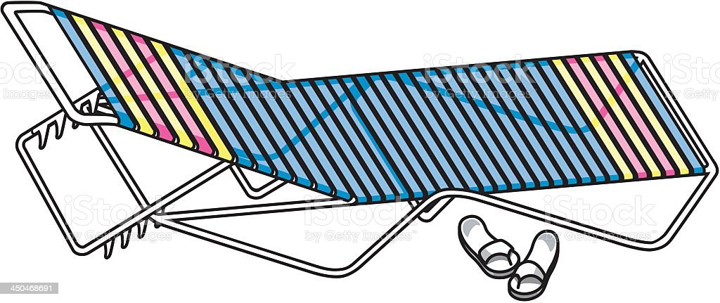 Lounge Chair and Sandals royalty-free stock vector art