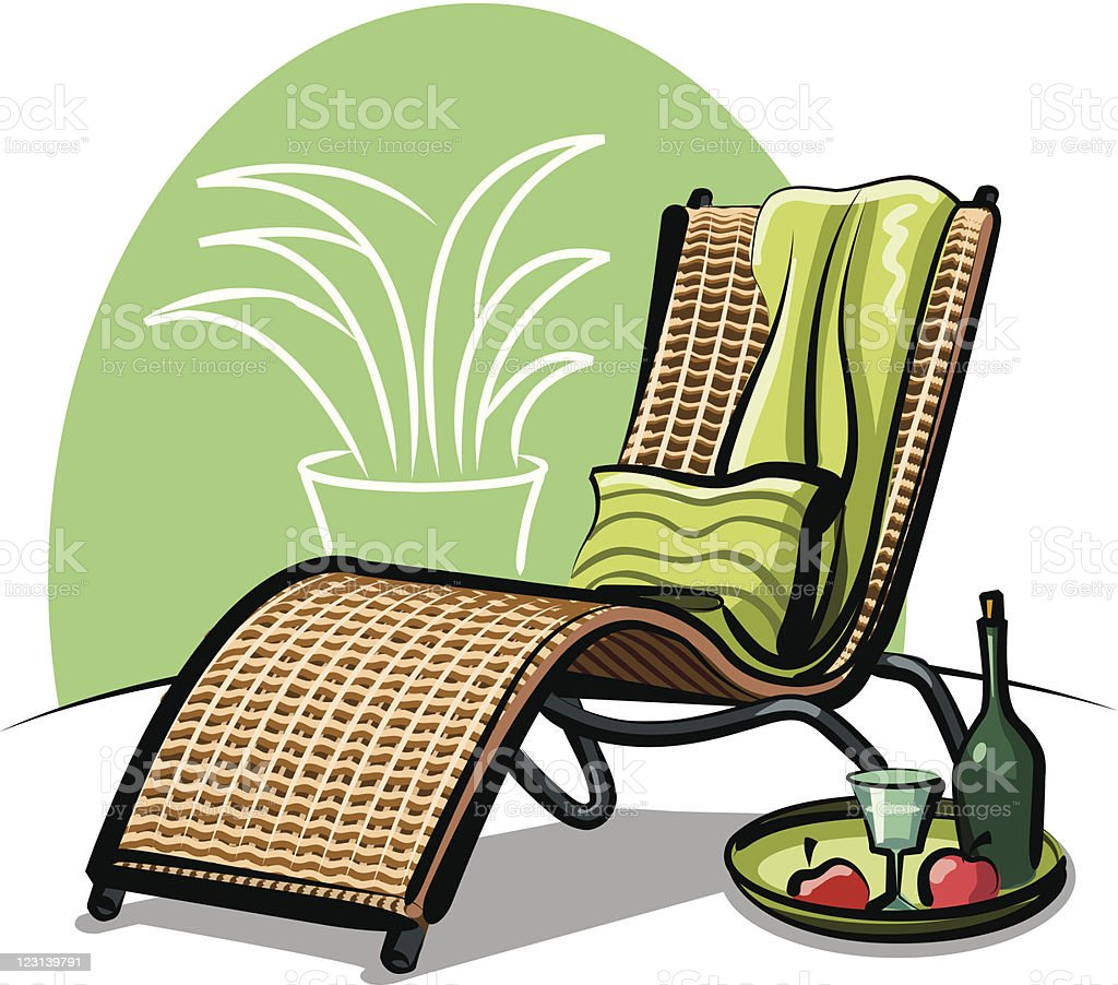 lounge chair royalty-free stock vector art