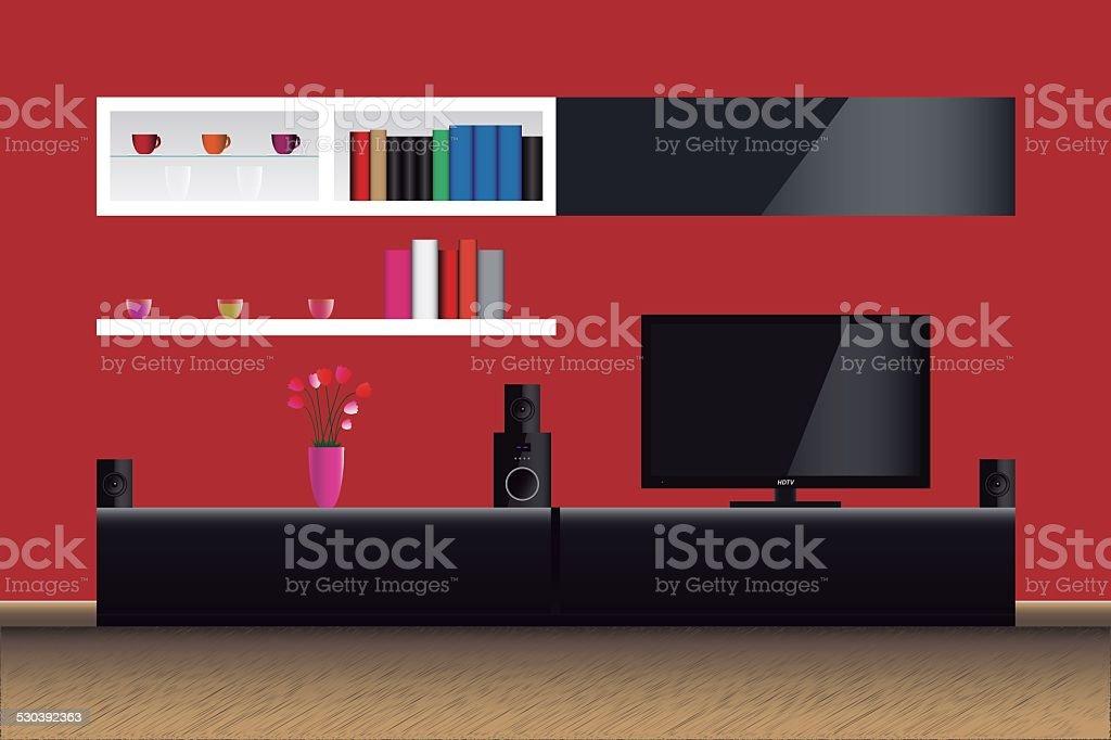 Lounge vector art illustration