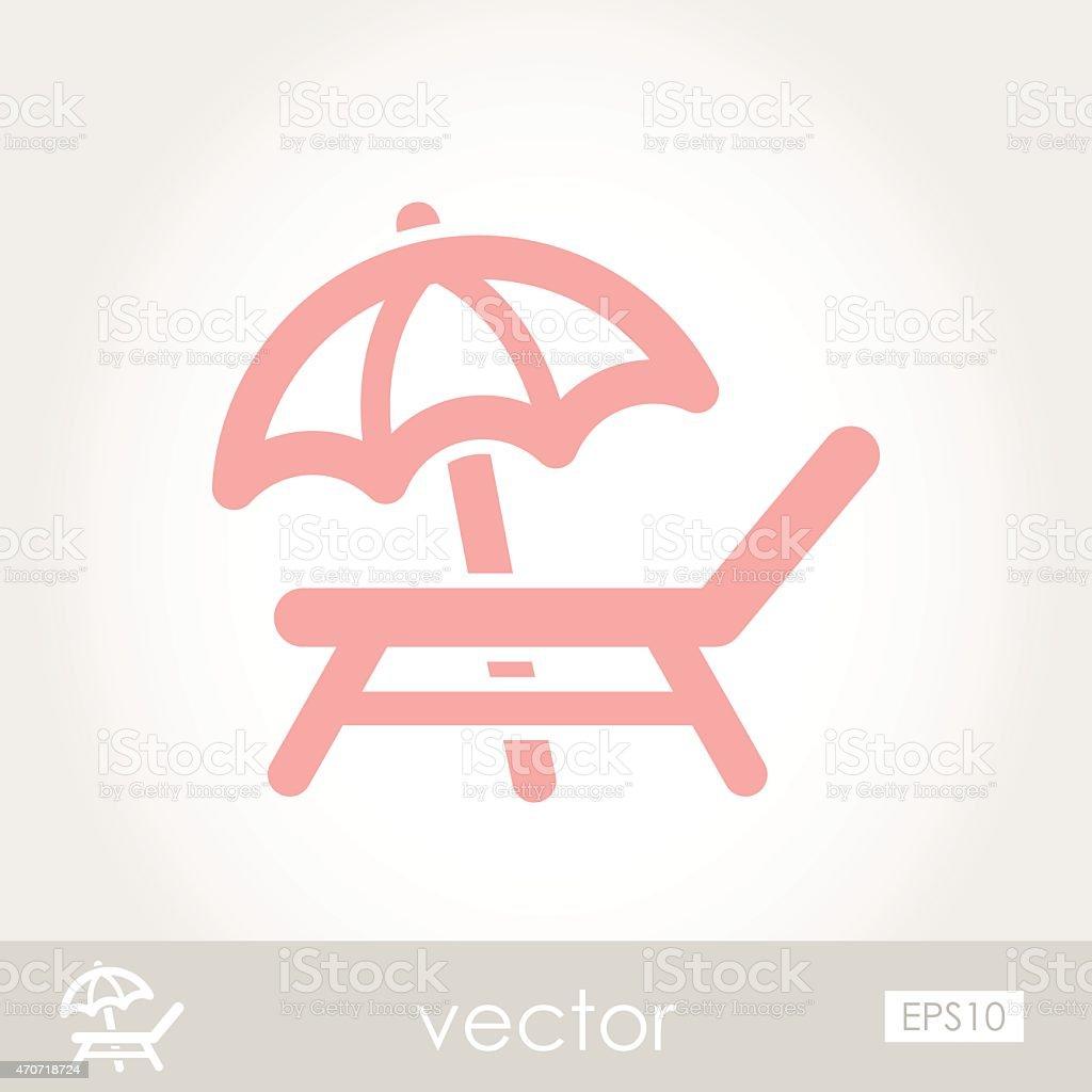 Lounger Beach Sunbed Chair vector icon vector art illustration