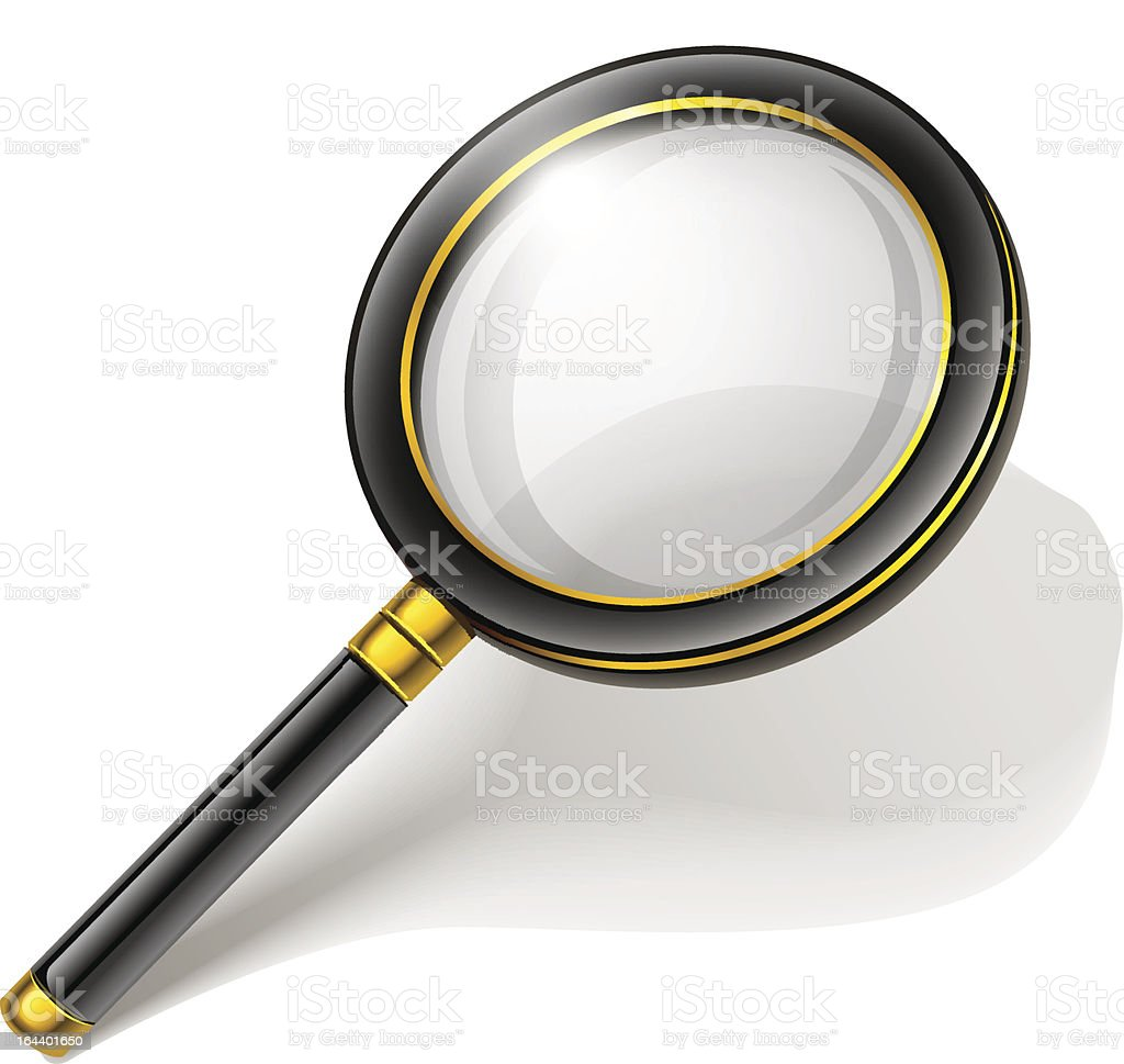 loupe magnifying glass tool isolated royalty-free stock vector art