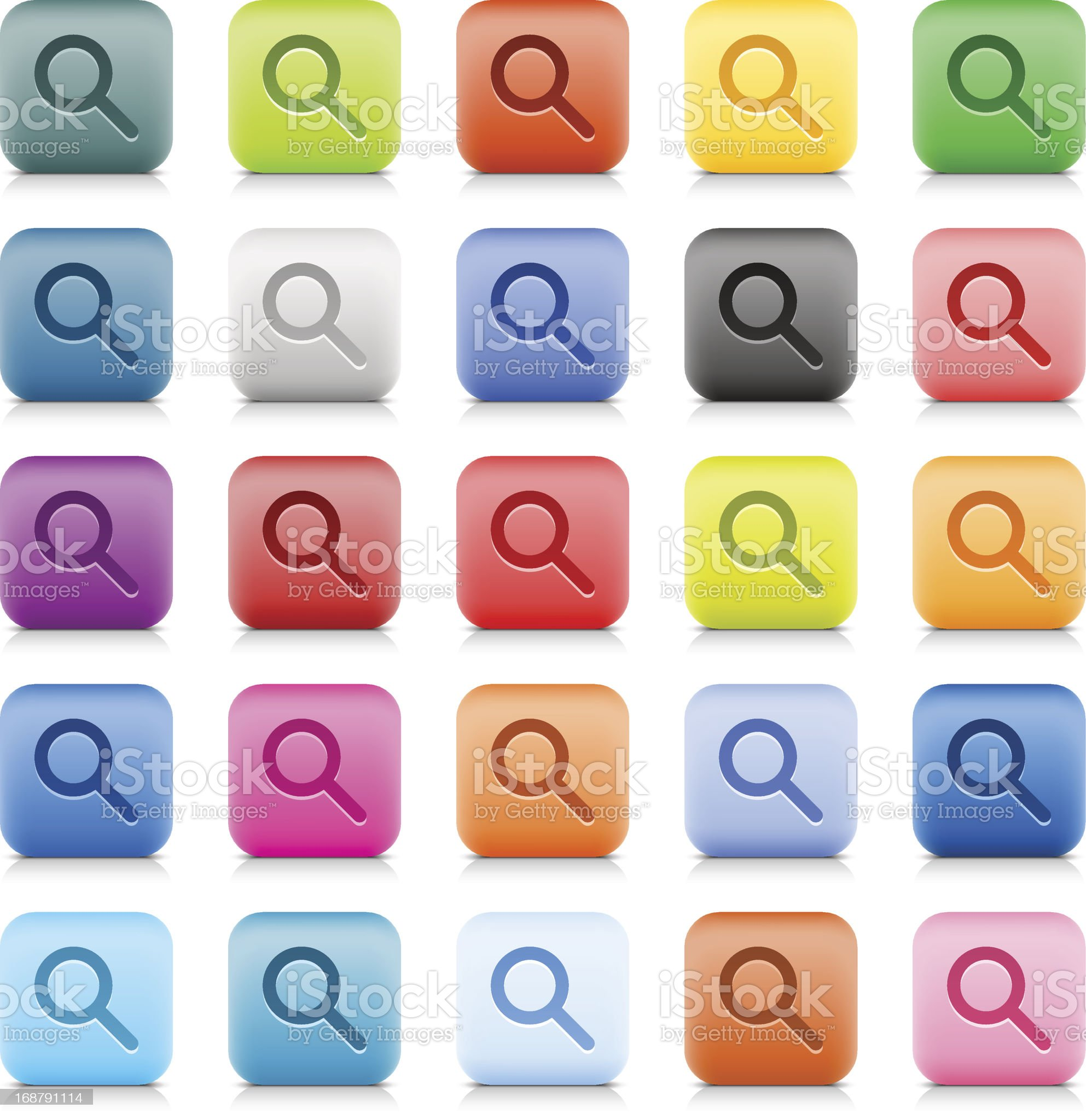 Loupe sign web button color stone satin style internet icon royalty-free stock vector art