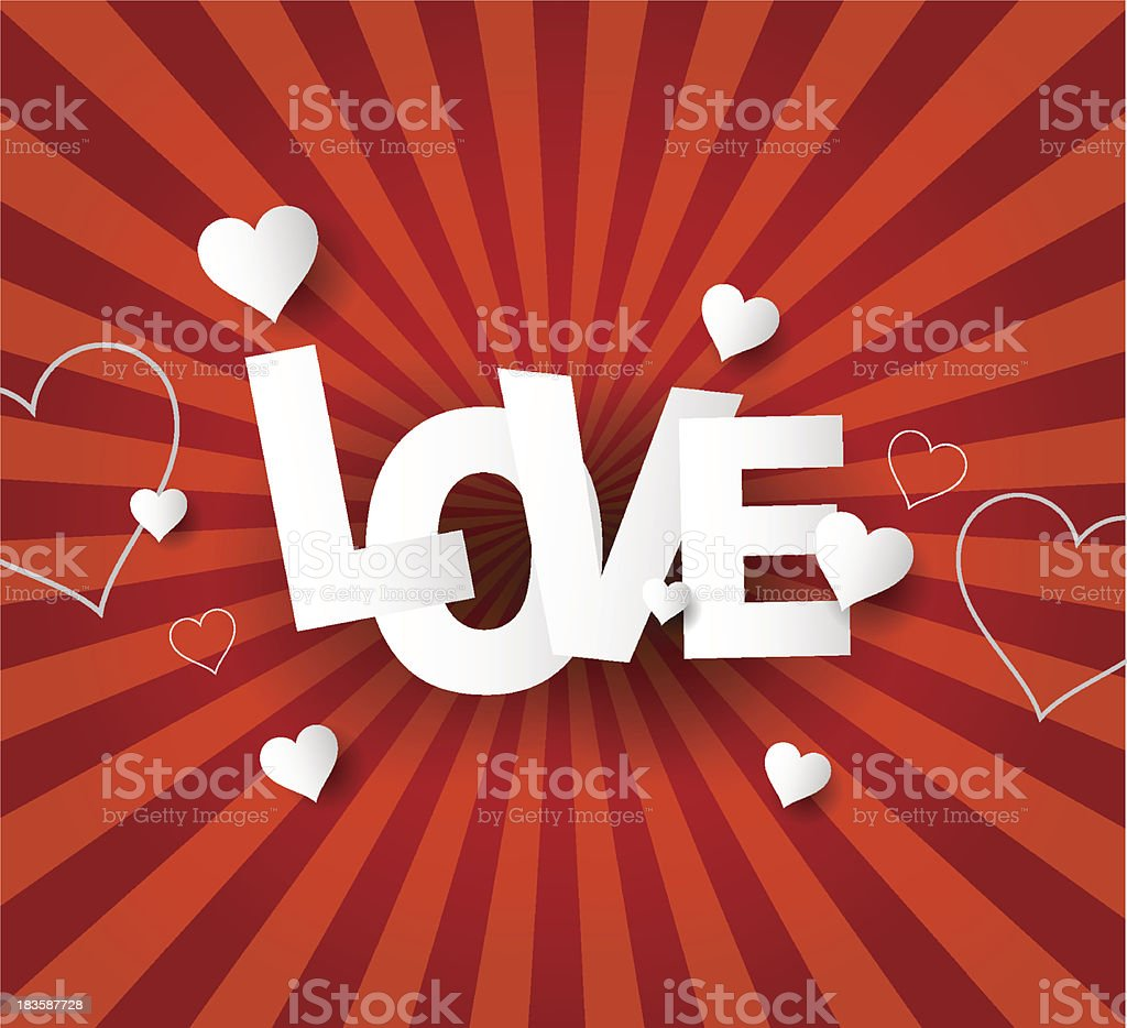 Love Abstract  background royalty-free stock vector art