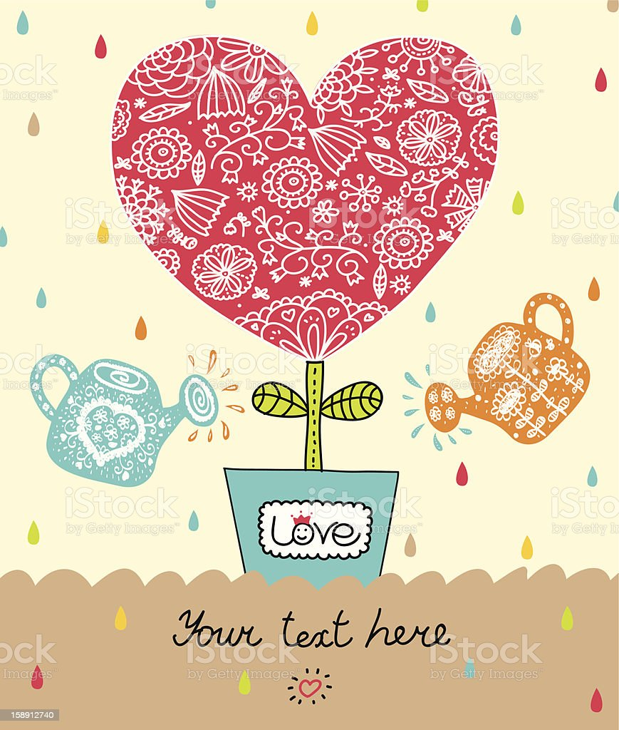 Love and heart. royalty-free stock vector art