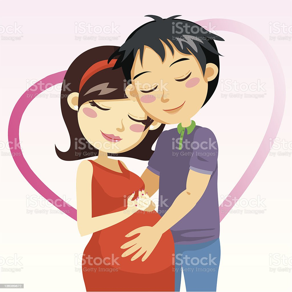 Love And Pregnancy royalty-free stock vector art