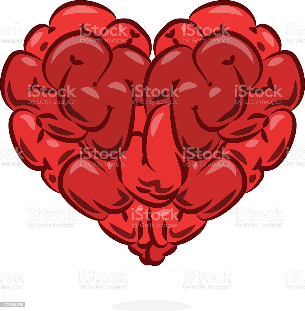 Love and wisdom symbol vector art illustration
