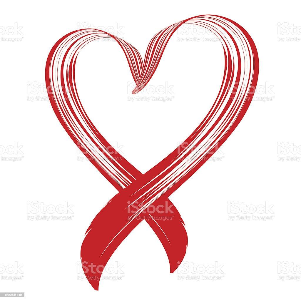 Love awareness ribbon vector art illustration