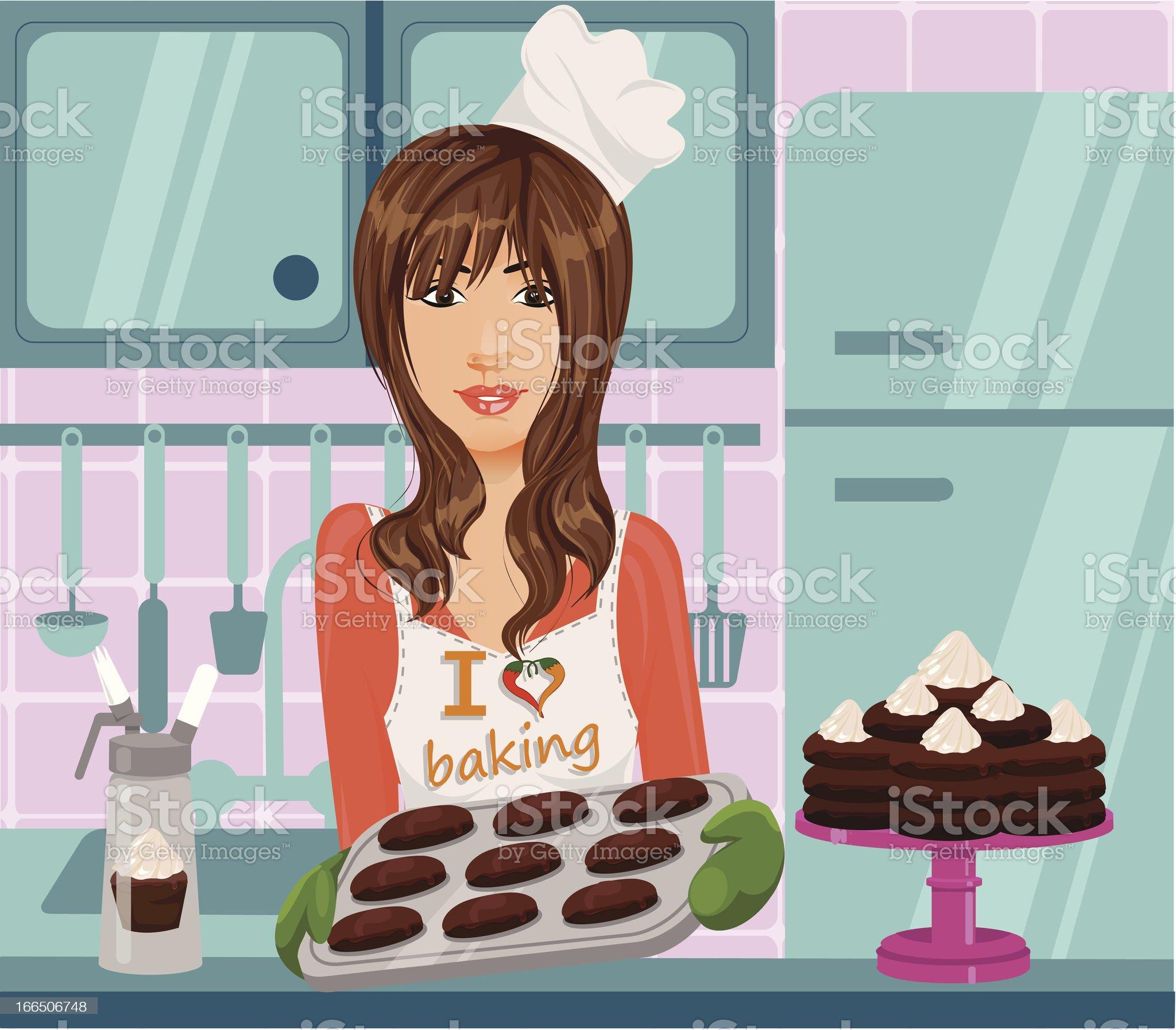 I Love Baking royalty-free stock vector art