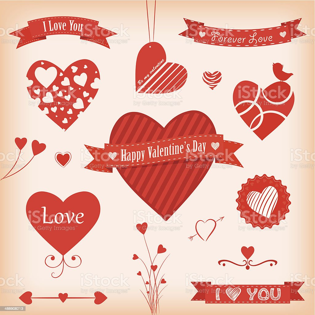Love Banners and Labels royalty-free stock vector art