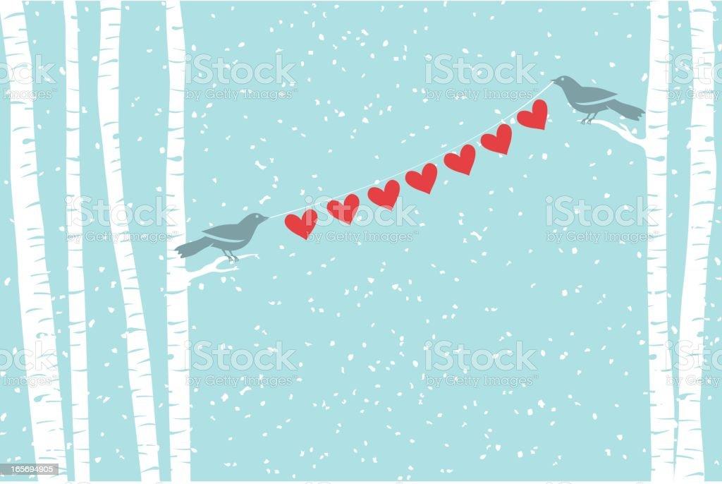 Love Birds vector art illustration