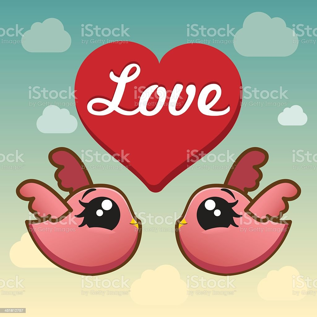 Amour des oiseaux stock vecteur libres de droits libre de droits