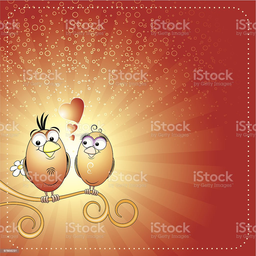 Love birds royalty-free stock vector art