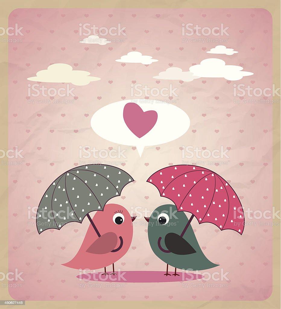 Love Birds.Vector vector art illustration