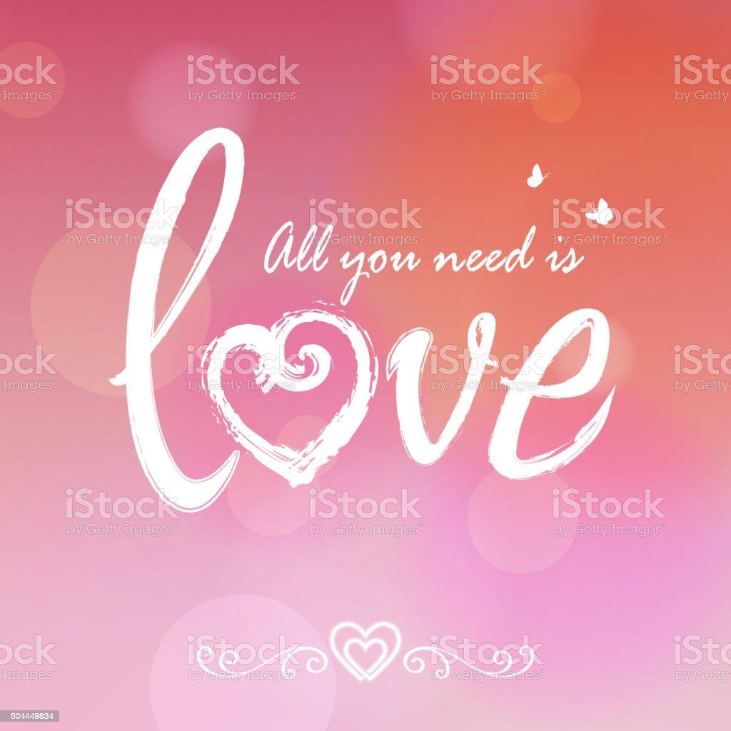 Love brush lettering vector art illustration