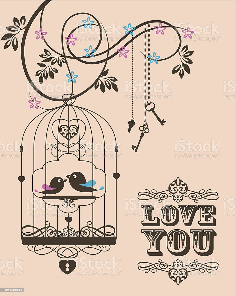 Love Cage royalty-free stock vector art