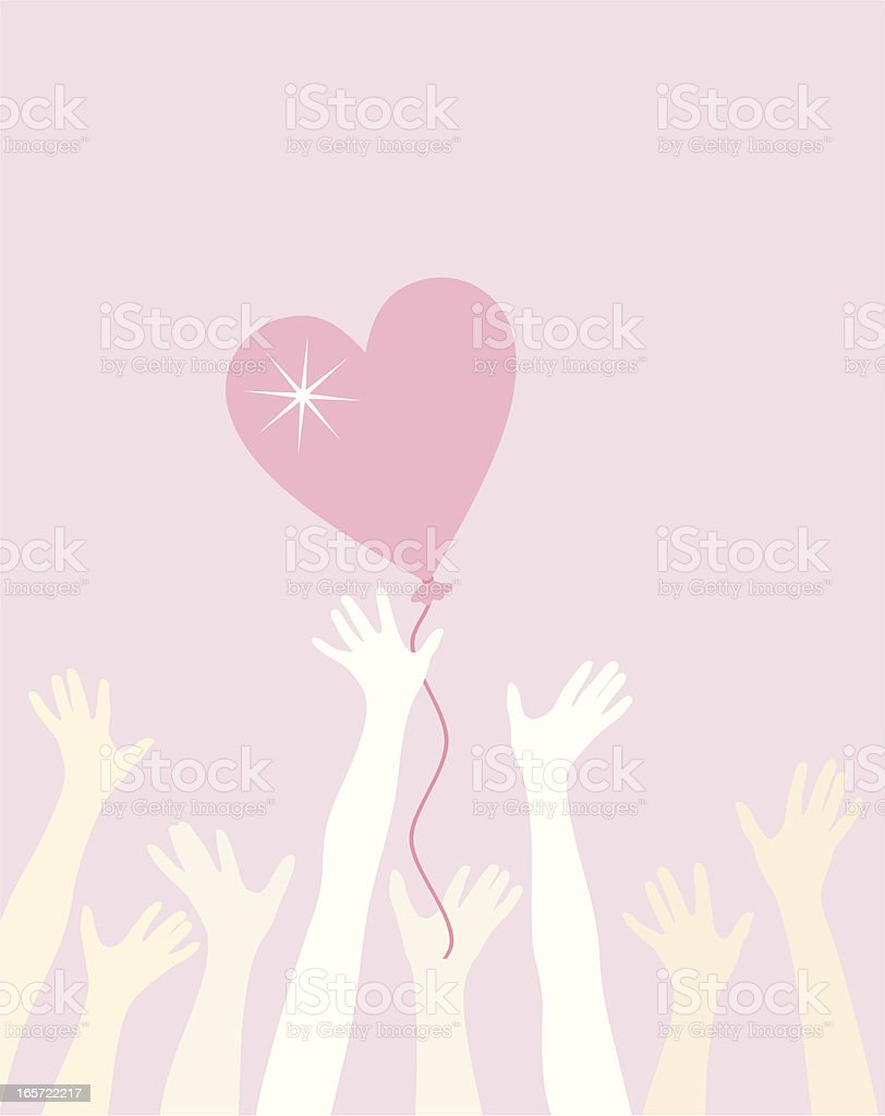 Love catching royalty-free stock vector art