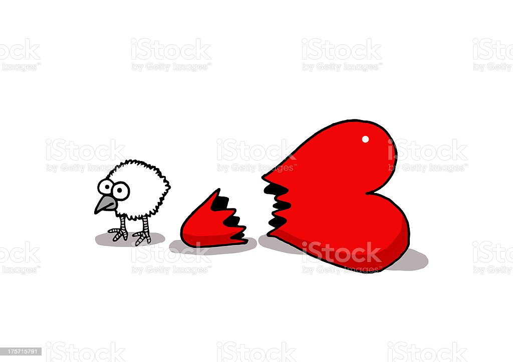 Love chick royalty-free stock vector art