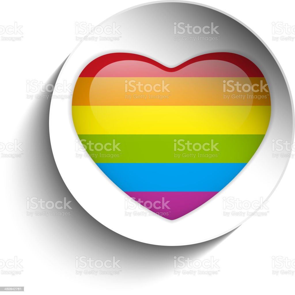 Love Circle Paper Sticker Button Gay royalty-free stock vector art
