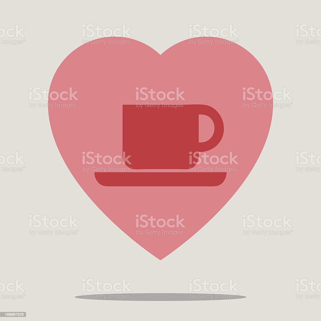 Love coffee sign royalty-free stock vector art