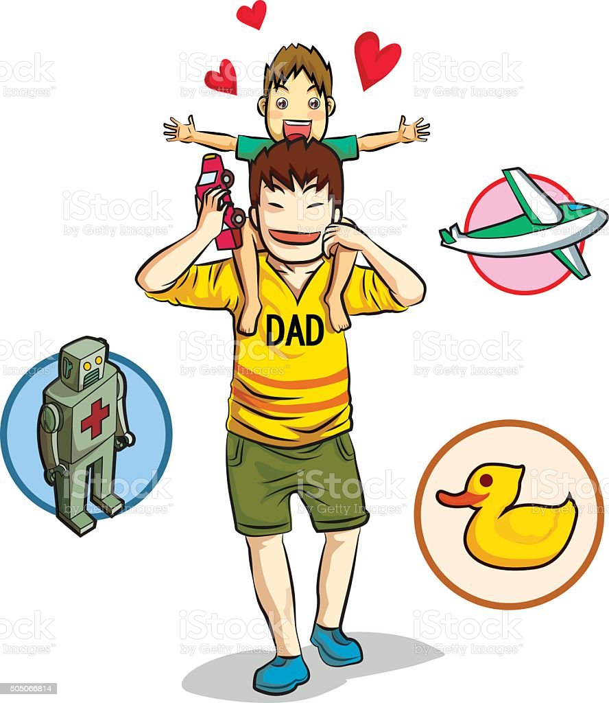 love dad vector art illustration