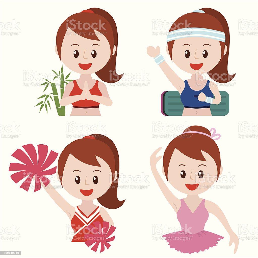 I love dancing icon set royalty-free stock vector art