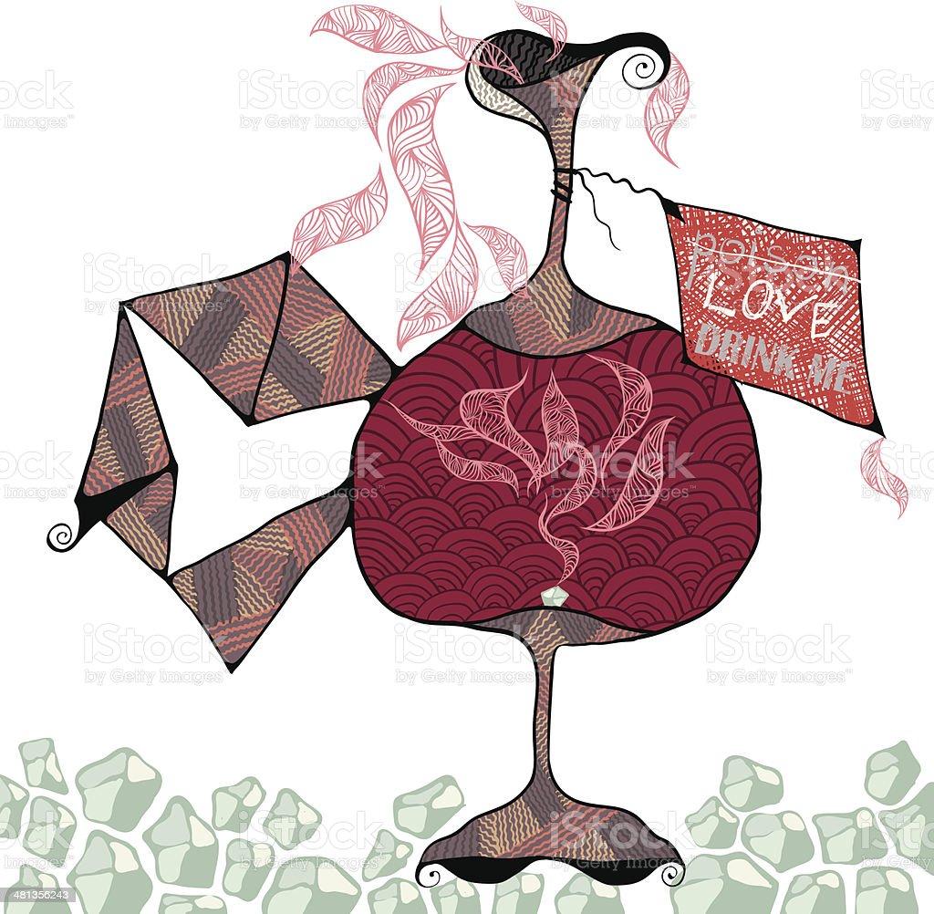 Love. Drink me. royalty-free stock vector art