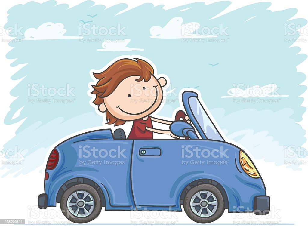 I love driving! royalty-free stock vector art