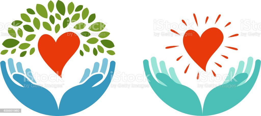 Love, ecology, environment icon. Health, medicine or oncology symbol...