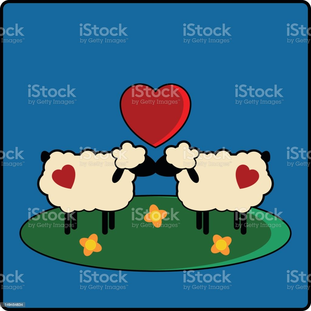 I Love Ewe! vector art illustration