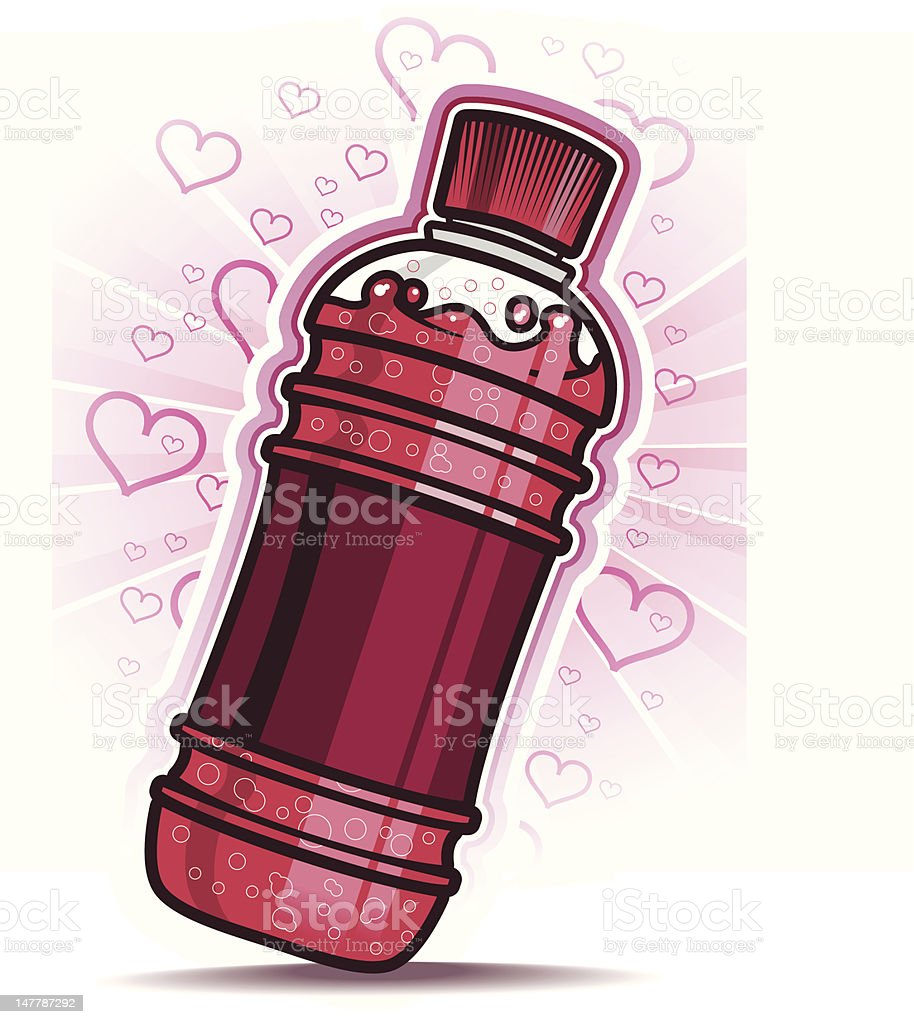 Love flavored soda royalty-free stock vector art