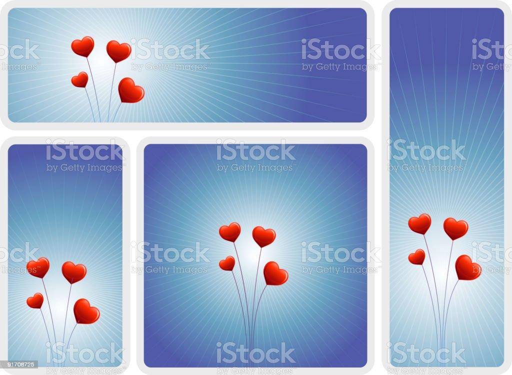 love flowers banner set royalty-free stock vector art