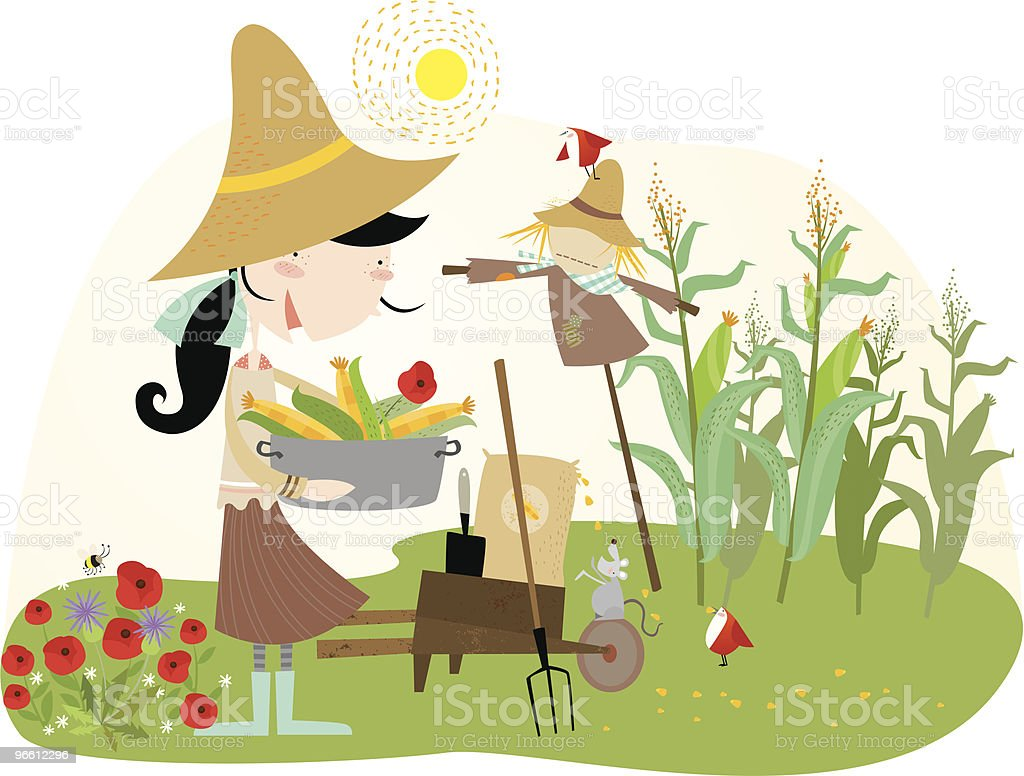love gardening royalty-free stock vector art
