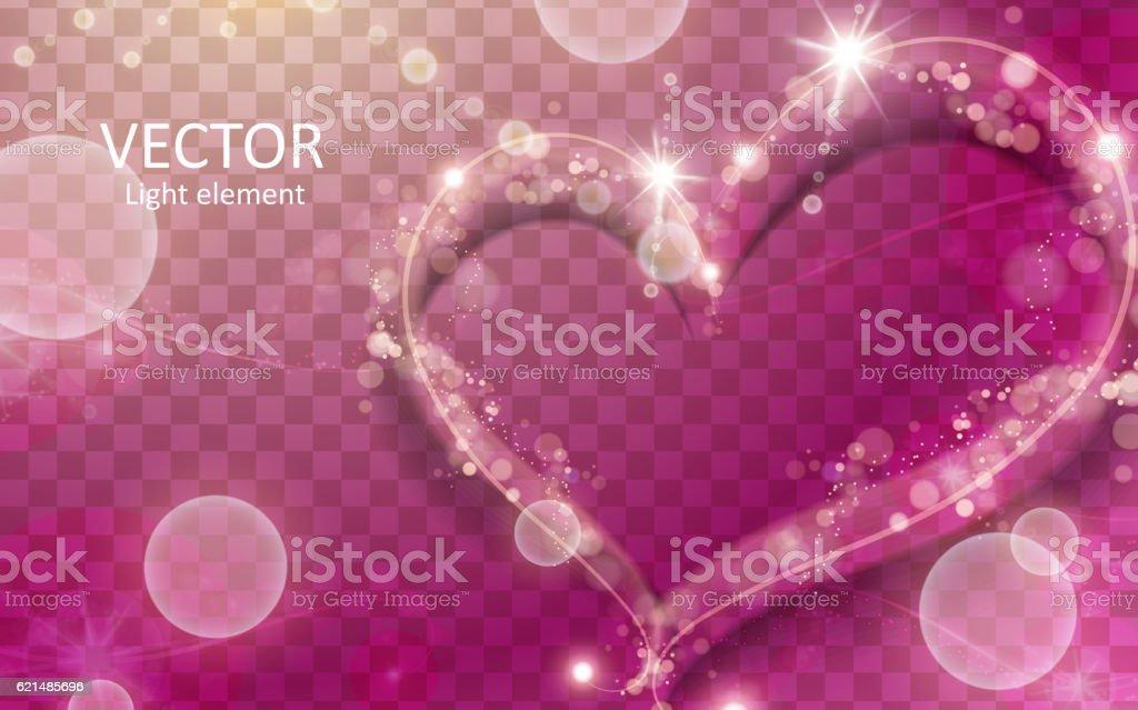 love heart element vector art illustration