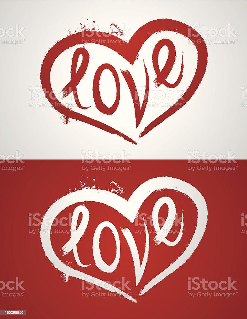 Love Heart vector art illustration