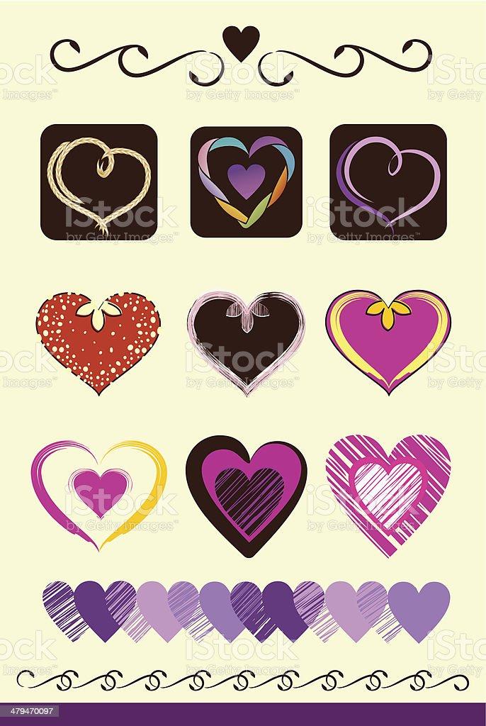 Love Hearts royalty-free stock vector art