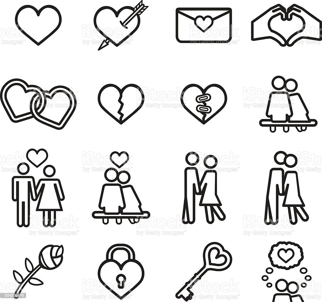 Love icon set. Vector eps10. vector art illustration
