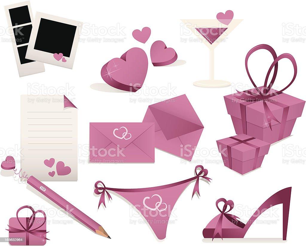 Love Icon Set royalty-free stock vector art