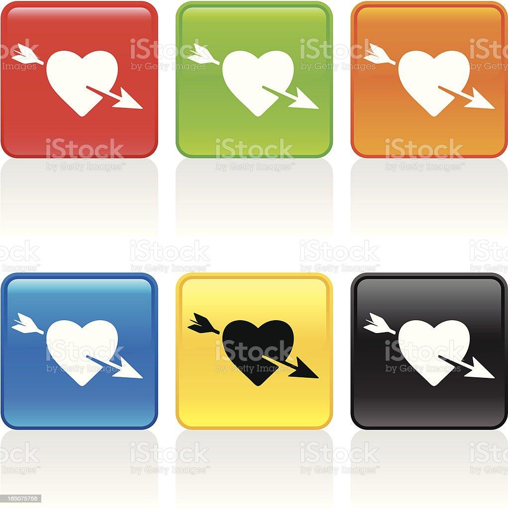 Love Icon vector art illustration